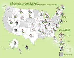 infographic childhood activity united states