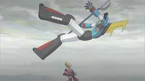 Mecha-Man defeats Hizakuriger