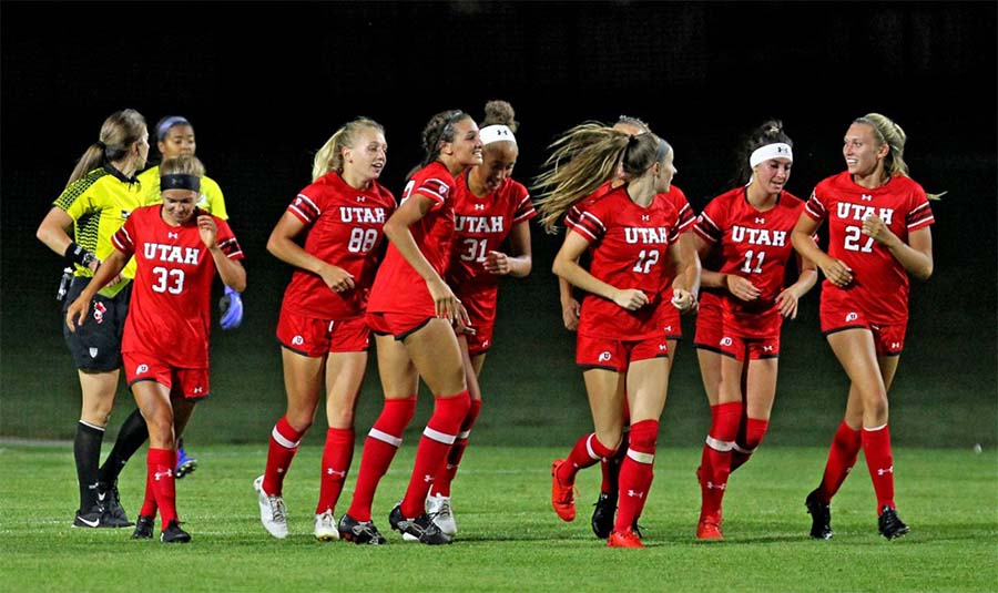 University of Utah women's soccer team members.